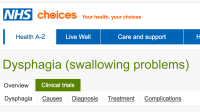 Dysphagia or swallowing problems