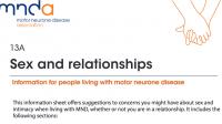 MNDA: Sex and relationships
