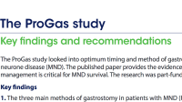 The ProGas study: Key findings