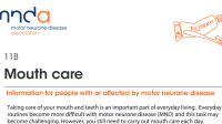 MND Association: Mouth care