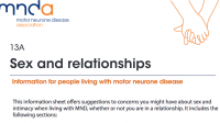 MNDA: Sex and relationships