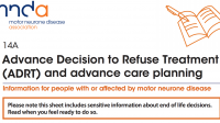 MND Association: Advanced Decision to Refuse Treatment (ADRT)